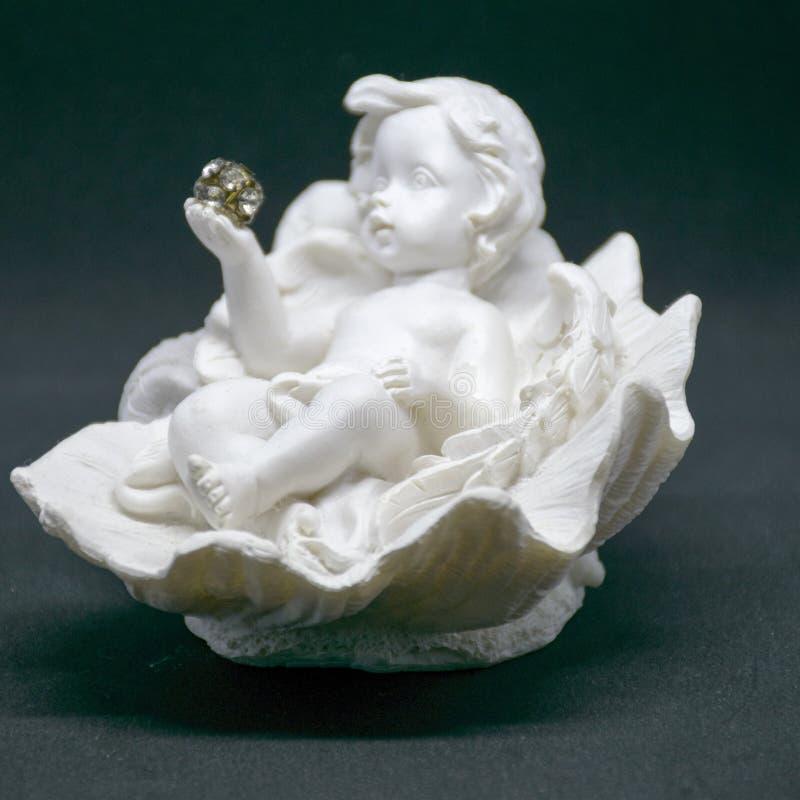 Mały ceramiczny anioł zdjęcia stock