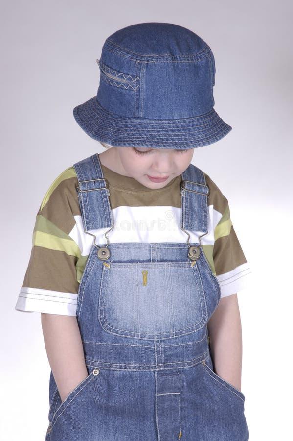 mały chłopiec kapelusz obrazy royalty free