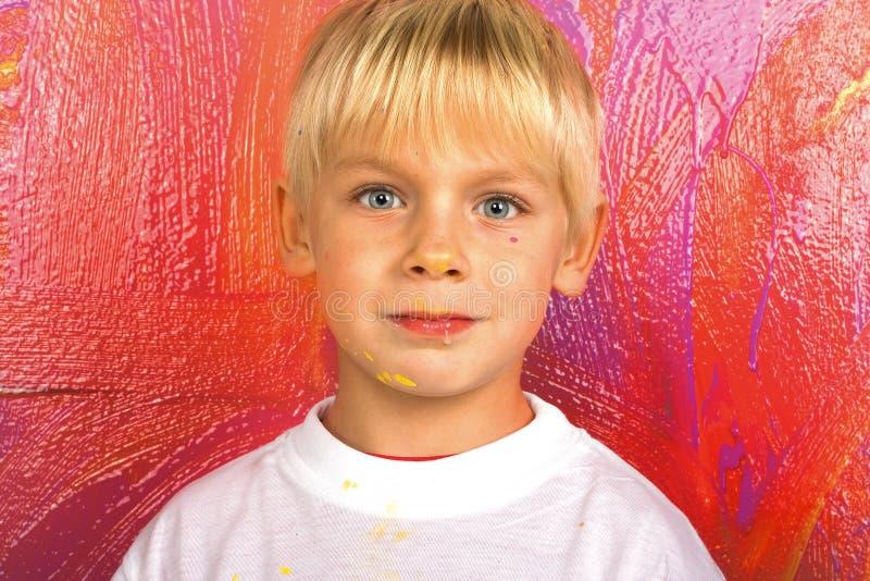 mały chłopiec portret obrazy stock
