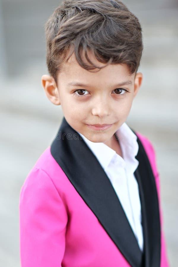 mały chłopiec portret zdjęcie stock
