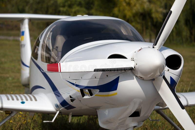 Mały cywilny samolot obraz stock