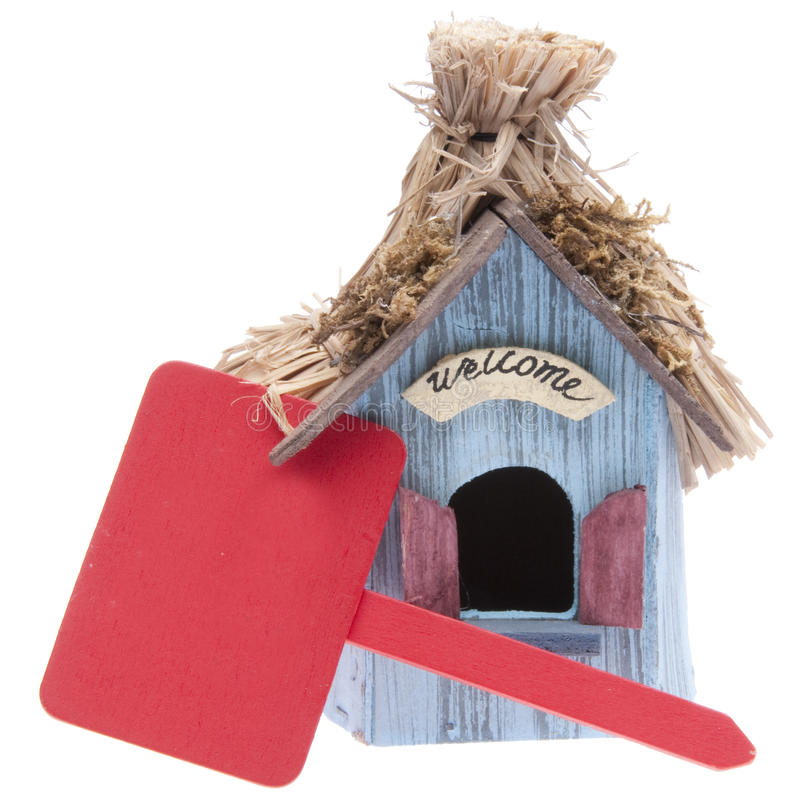mały czerwień domowy znak zdjęcie royalty free