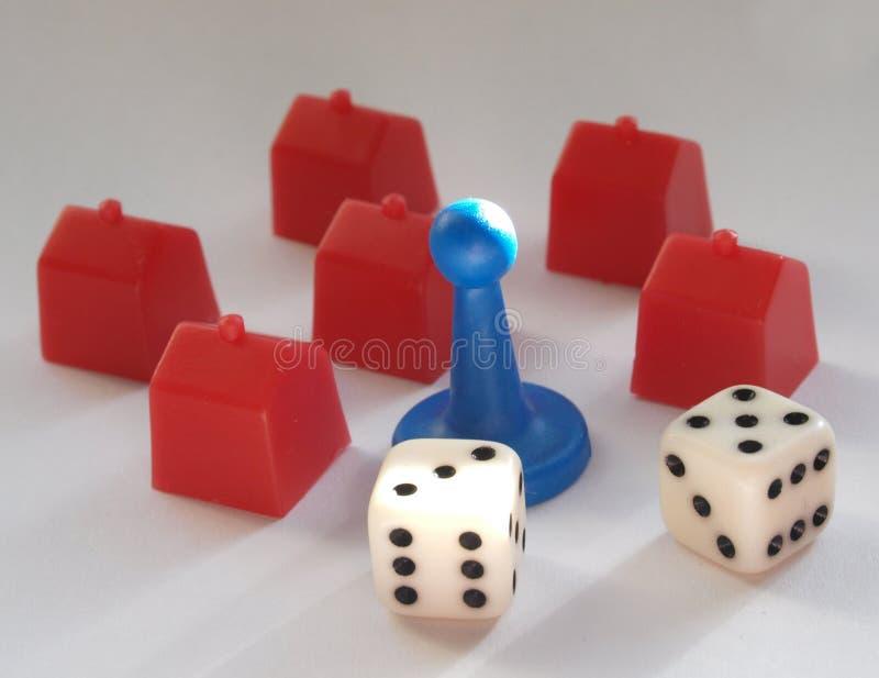 Mały czerwieni zabawki dom zdjęcia royalty free