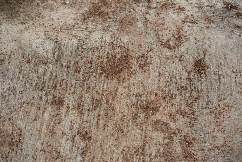 Mały czerwony żwir na betonowej płycie tworzył wzór i teksturę zdjęcia stock