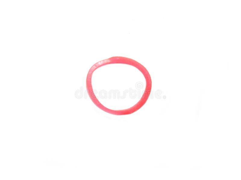 Mały czerwony gumowy zespół zdjęcia stock