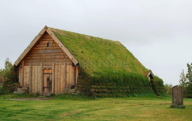 Mały Darniuje kościół przy Skalholt w Iceland obrazy royalty free