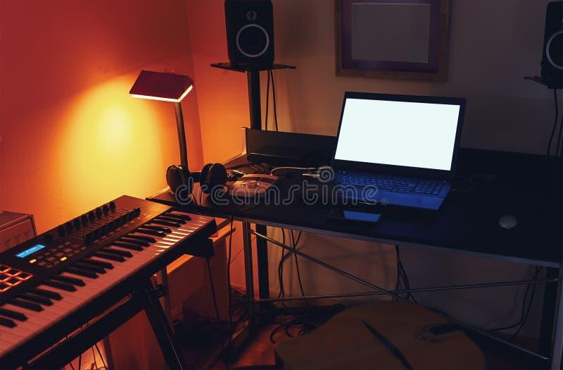 Mały Domowy studio nagrań zdjęcie stock