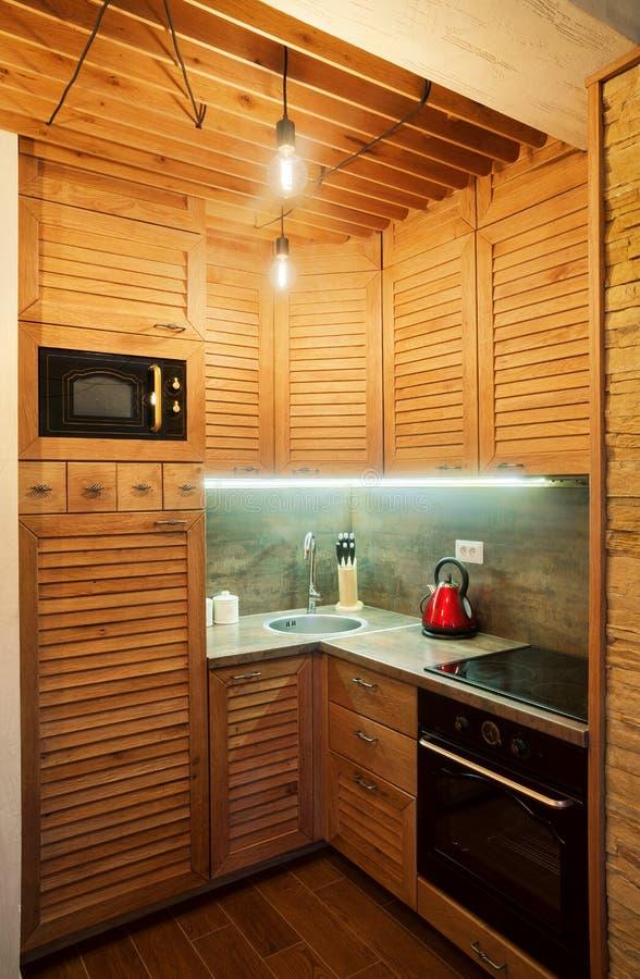 Mały Drewniany mieszkanie zdjęcie royalty free