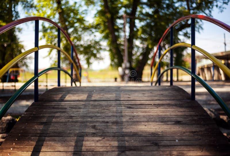 Mały drewniany most obraz royalty free