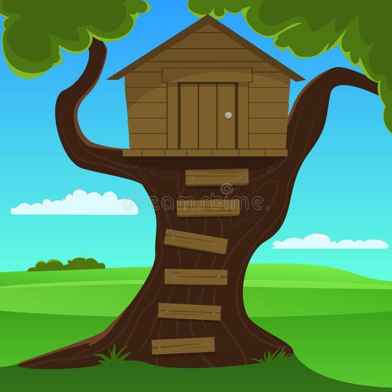 Mały Drzewny dom ilustracji