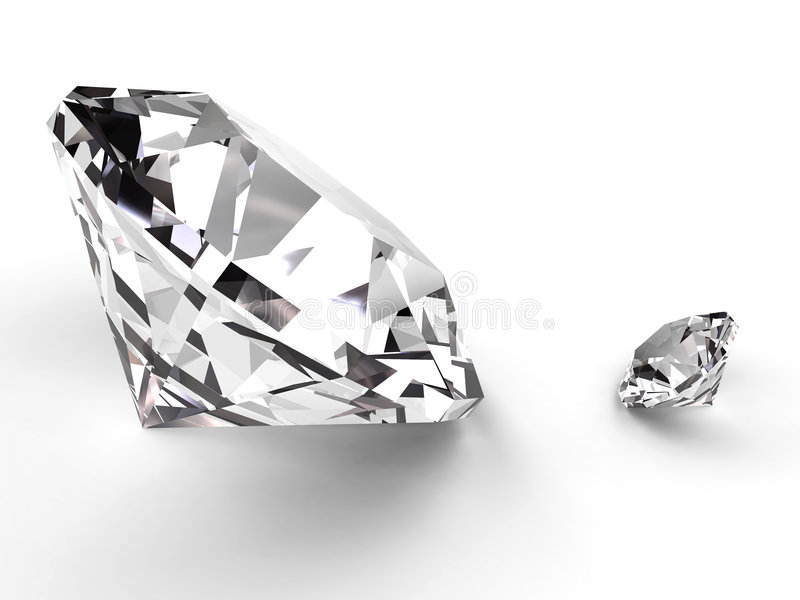 mały duży diament