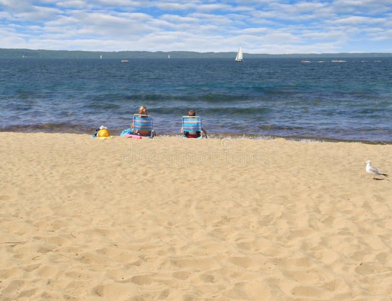 mały dwóch beach zdjęcia stock