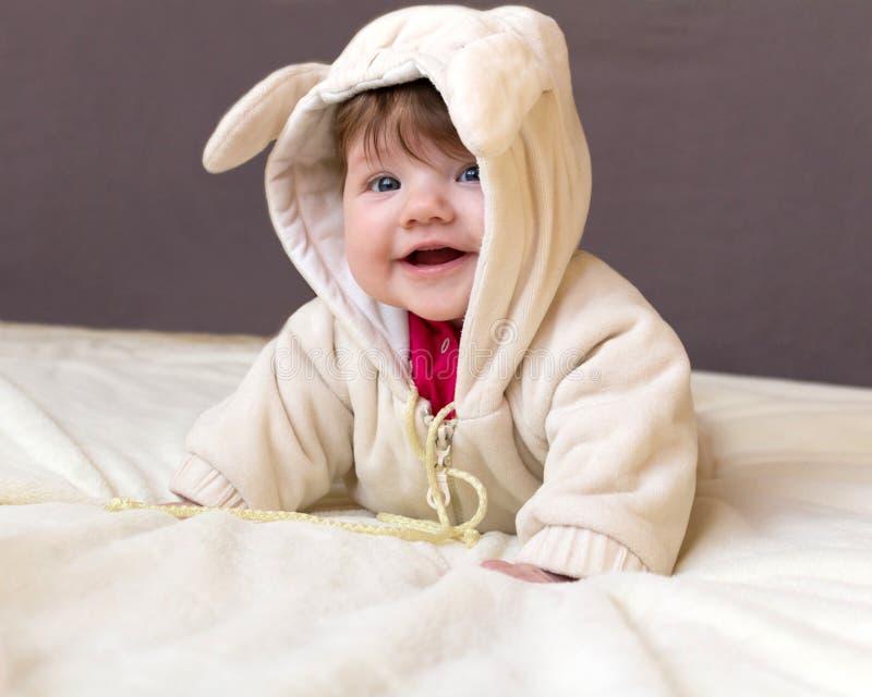 Mały dziecka ono uśmiecha się zdjęcia stock