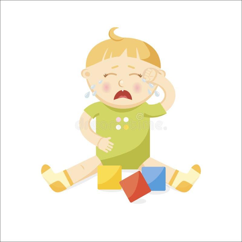 mały dziecko płacz ilustracja wektor