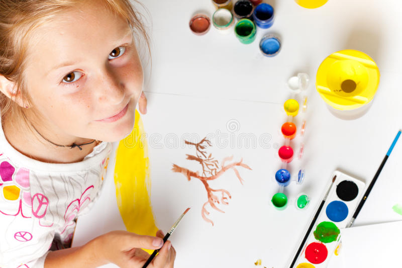 mały dziecko rysunek obrazy royalty free