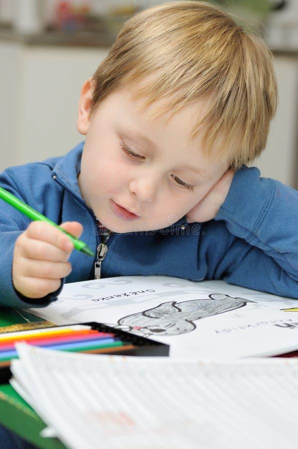 mały dziecko rysunek zdjęcia stock