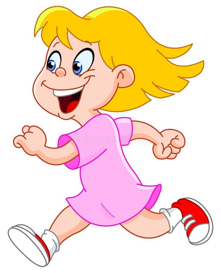 mały dziewczyna bieg royalty ilustracja