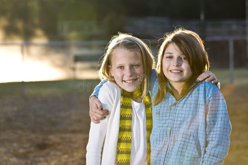 mały dziewczyna portret dwa zdjęcia stock