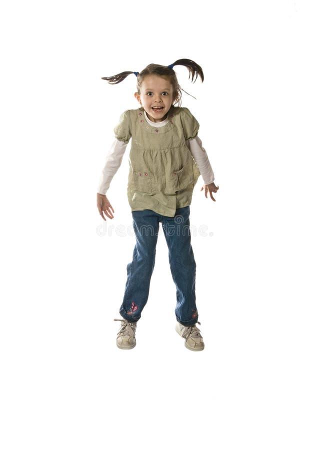 mały dziewczyny doskakiwanie obraz royalty free