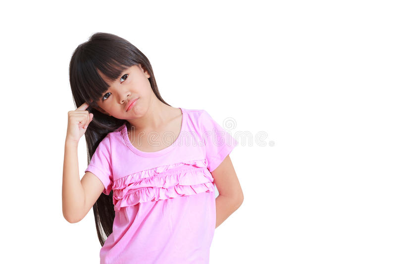 mały dziewczyny główkowanie fotografia stock