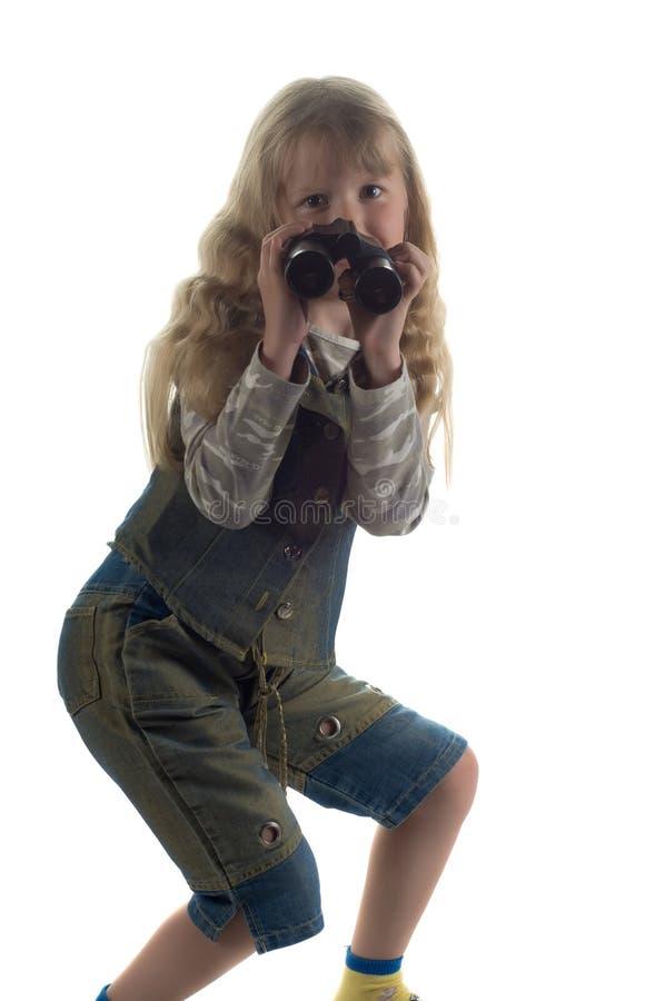 mały dziewczyny studio obraz stock