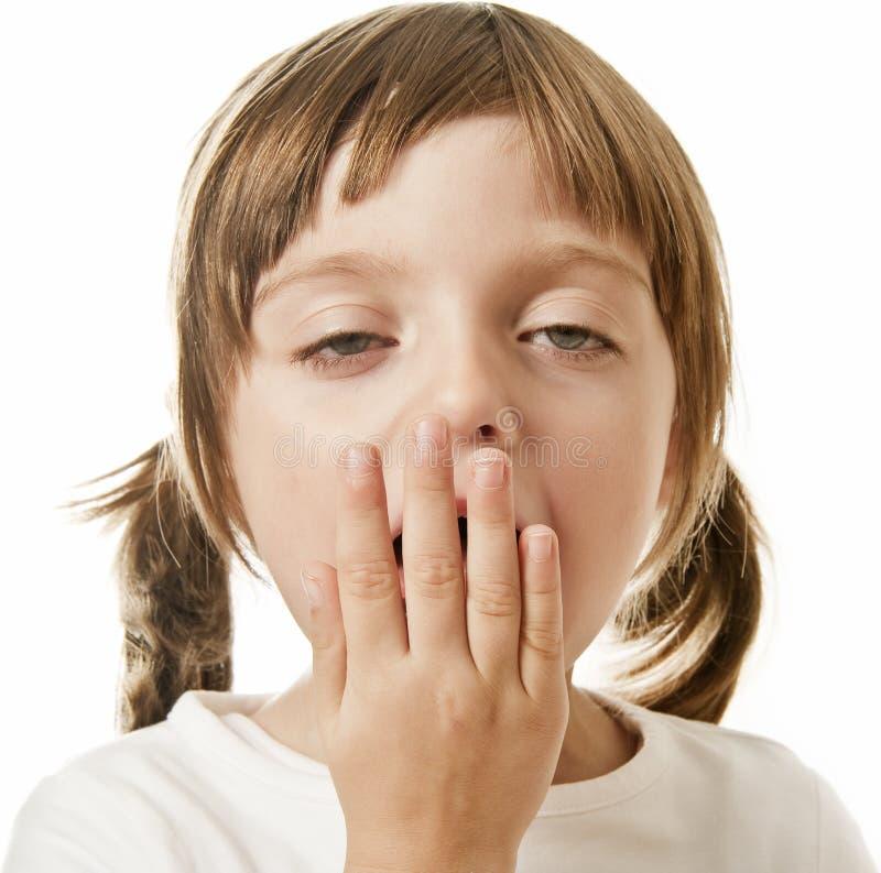 mały dziewczyny ziewanie zdjęcie stock