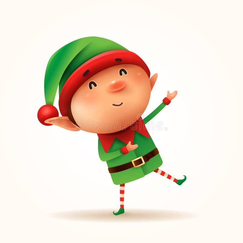 Mały elf wita odosobniony royalty ilustracja
