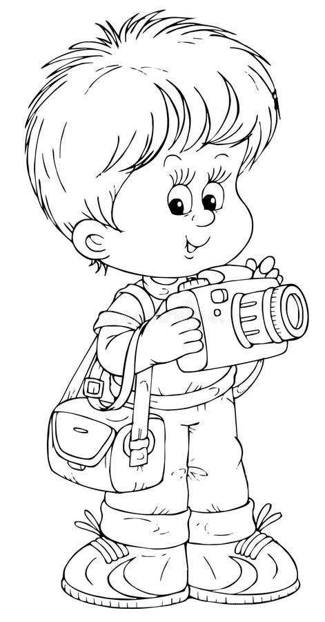 mały fotograf royalty ilustracja