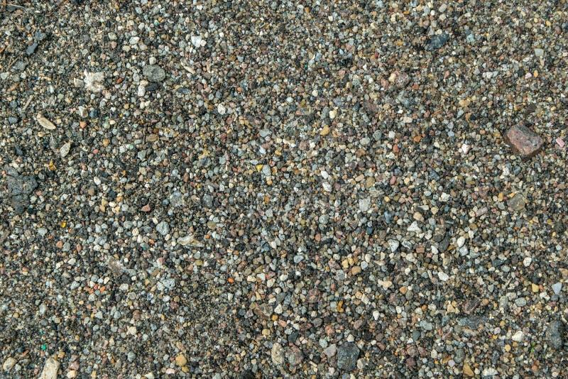 Mały hoggin kamieni tekstury odgórnego widoku zakończenia strzał obrazy stock