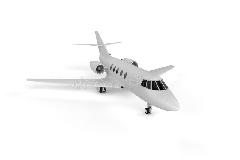 Mały Intymny samolot - Mockup 3D ilustracja ilustracja wektor