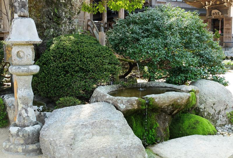 Mały Japońskiego stylu ogród obraz royalty free
