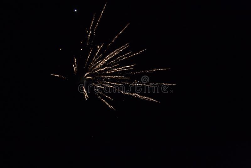 Mały Jaskrawy fajerwerku wybuch obrazy stock