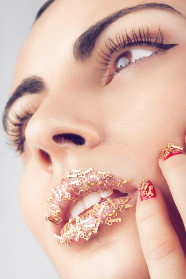 Mały klucza makeup obraz royalty free