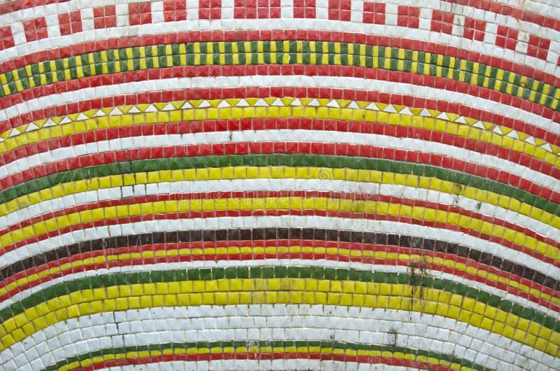 Mały kolorowy dekoracyjny dachówkowy tło zdjęcie stock