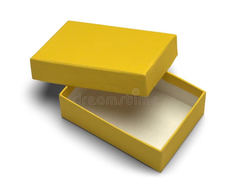 Mały koloru żółtego pudełko fotografia royalty free