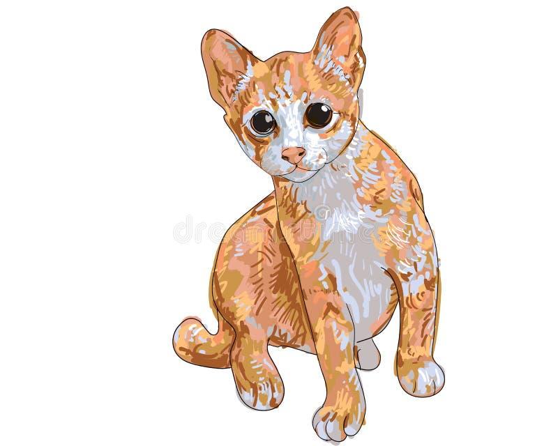 Mały kot royalty ilustracja
