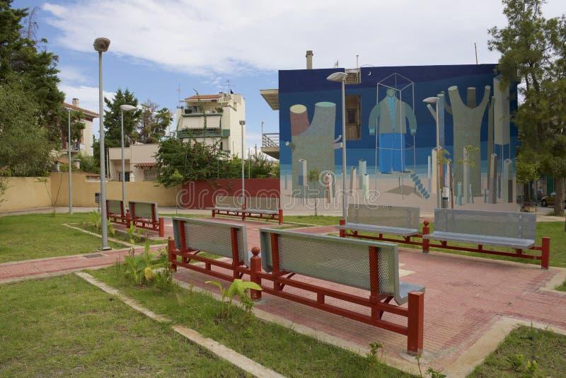 Mały kwadrat w Elefsina obrazy royalty free