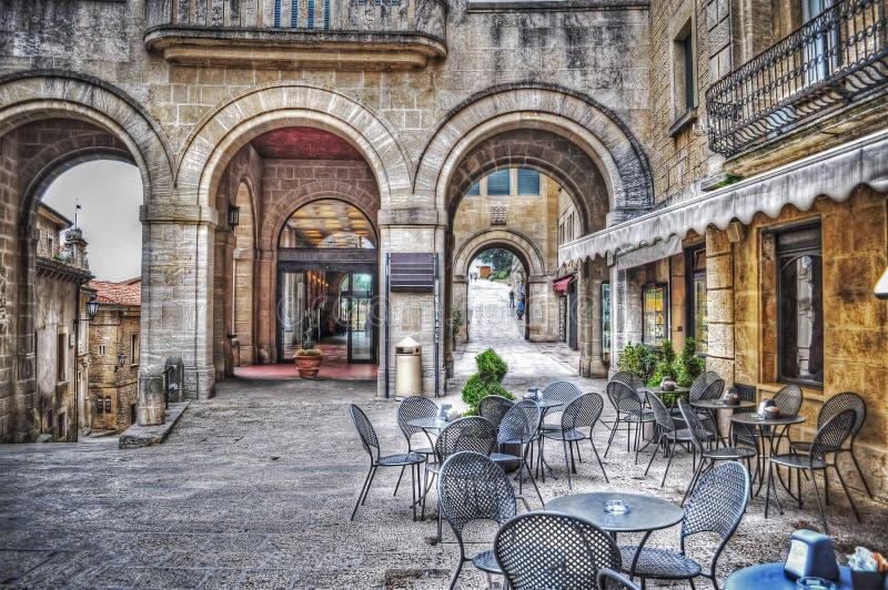 Mały kwadrat w San Marino zdjęcia royalty free
