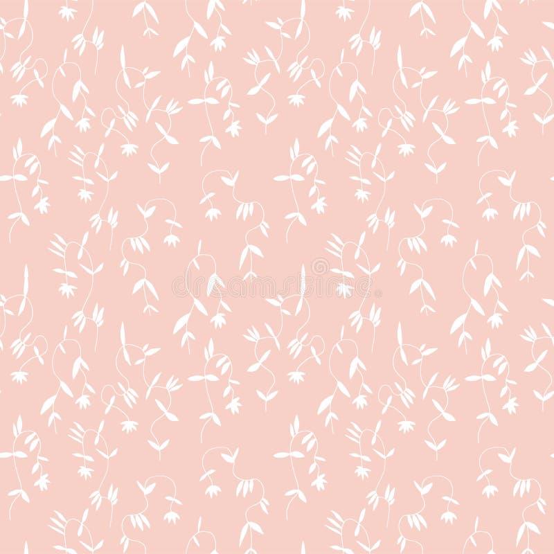 Mały kwiat bez szwu wzór w vintage skandynawski minimalizm estetyczny, tło retro royalty ilustracja