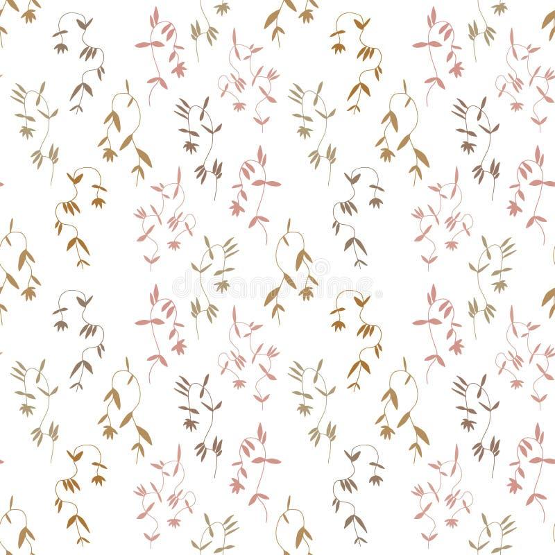 Mały kwiat bez szwu wzór w vintage skandynawski minimalizm estetyczny, tło retro ilustracja wektor
