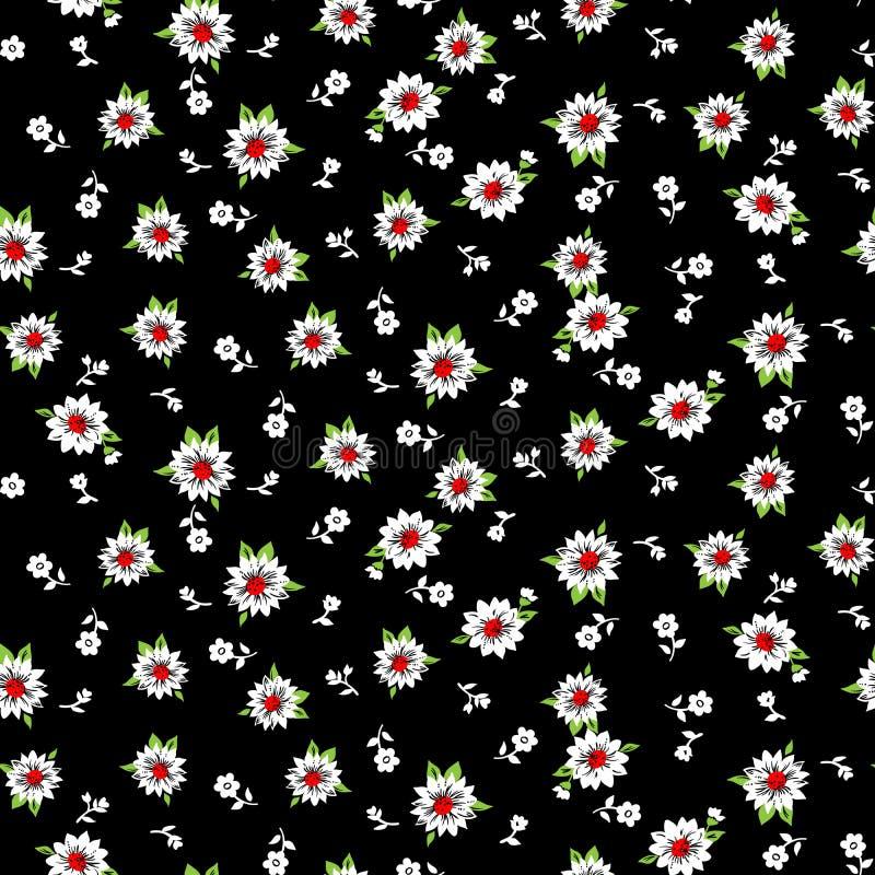 Mały kwiatu wzór 009 ilustracja wektor