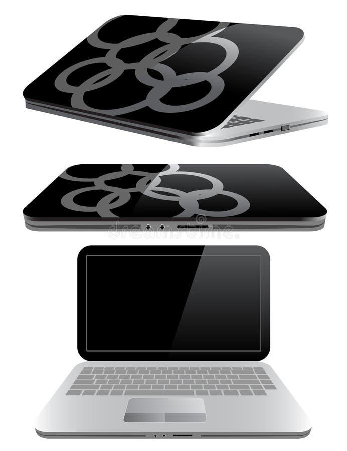 mały laptopu komputerowy notatnik obraz stock