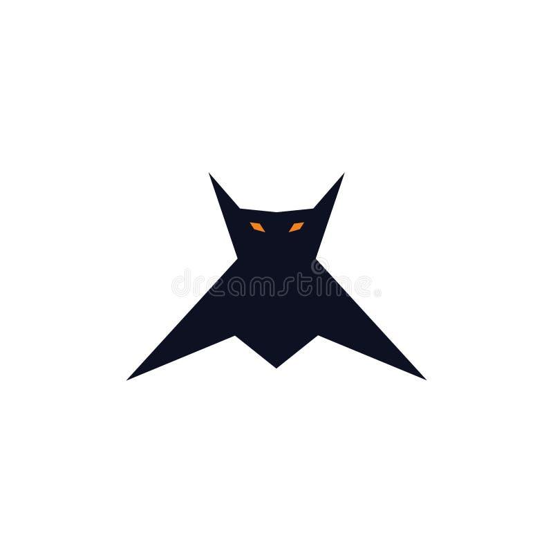 Mały latanie nietoperz ilustracja wektor