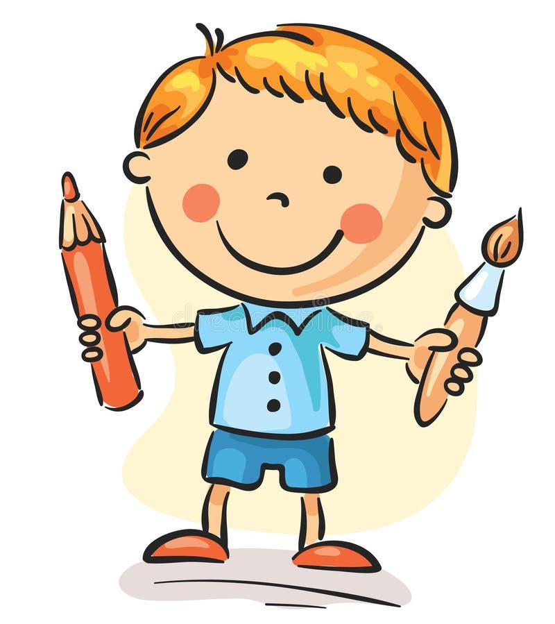 mały malarz ilustracji