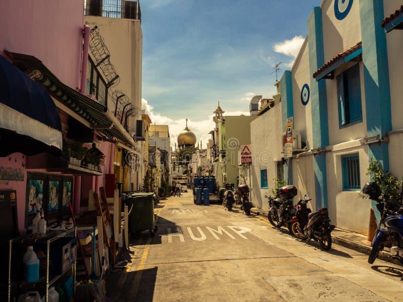 Mały miasteczko w dużym mieście fotografia stock