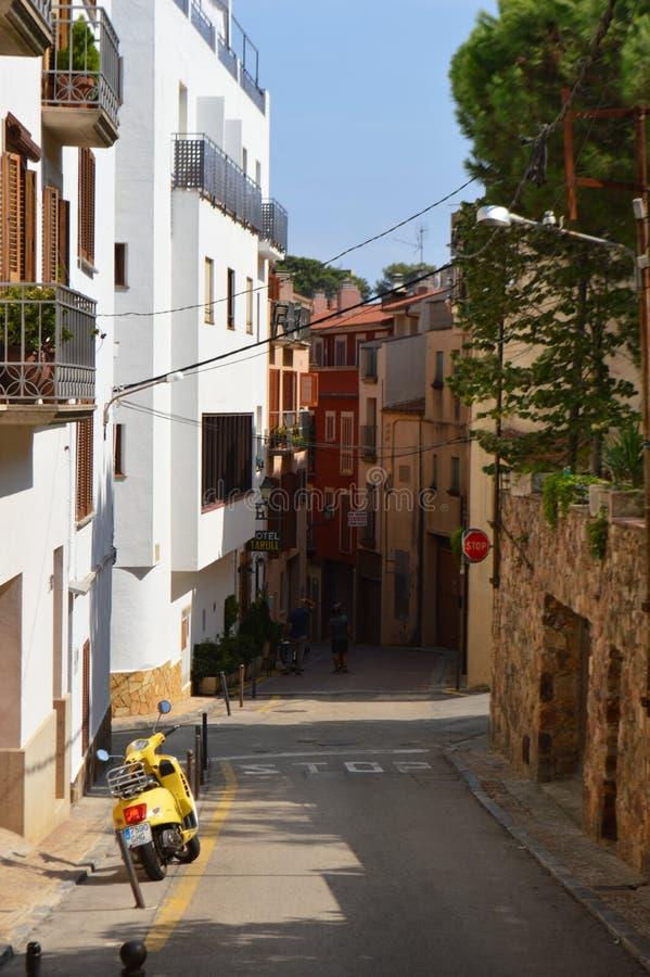 Mały miasto w Południowym Hiszpania zdjęcie stock
