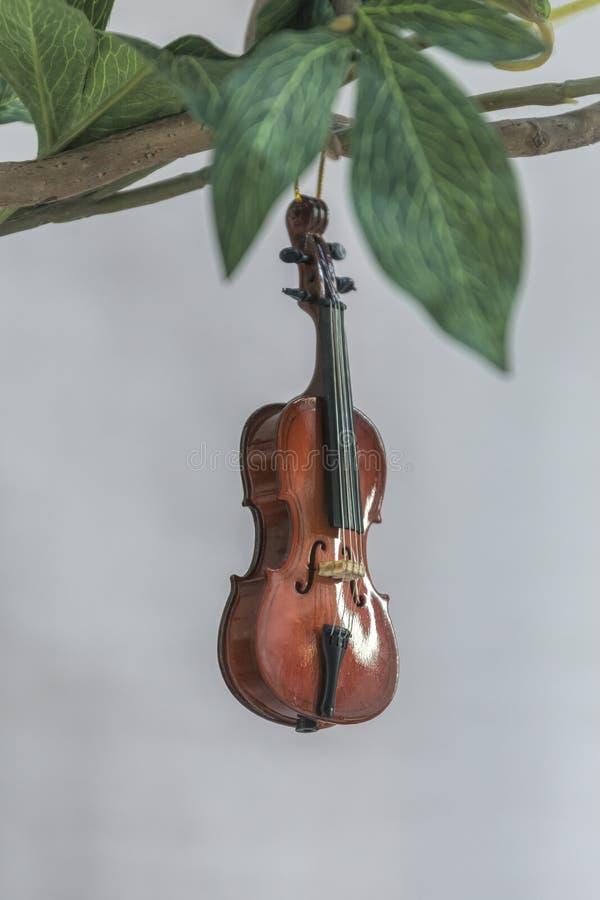 Mały miniaturowy skrzypce obrazy royalty free