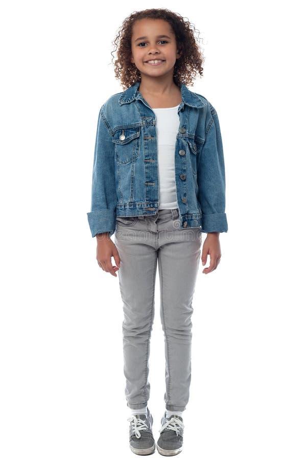 Mały modny dziewczyny pozować obrazy stock