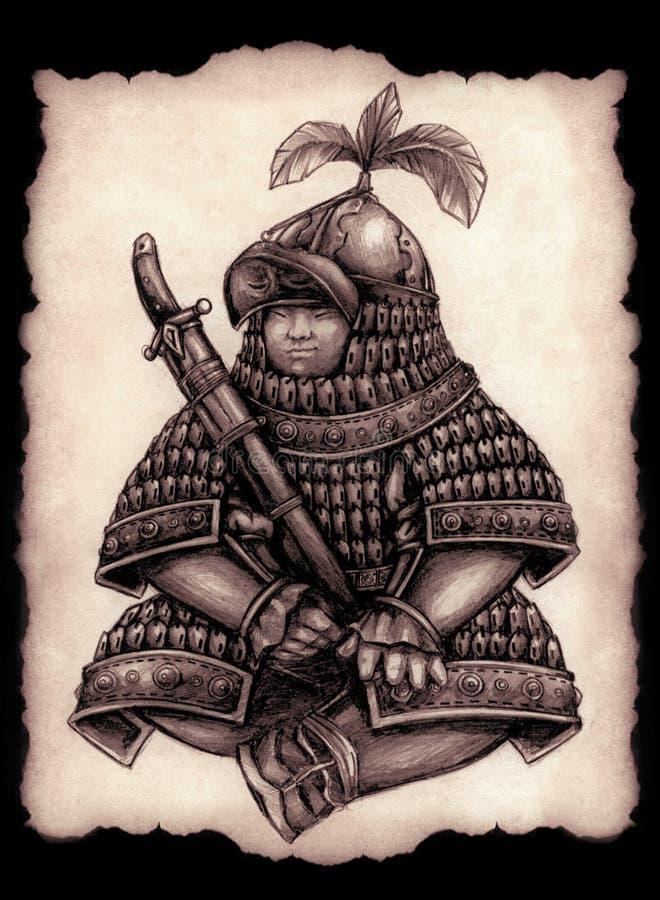Mały Mongolski gubernator wojskowy ilustracja wektor