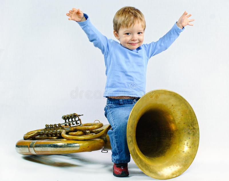 mały muzyk obraz stock